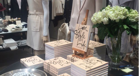 Doré's books on display at Club Monaco in Georgetown.