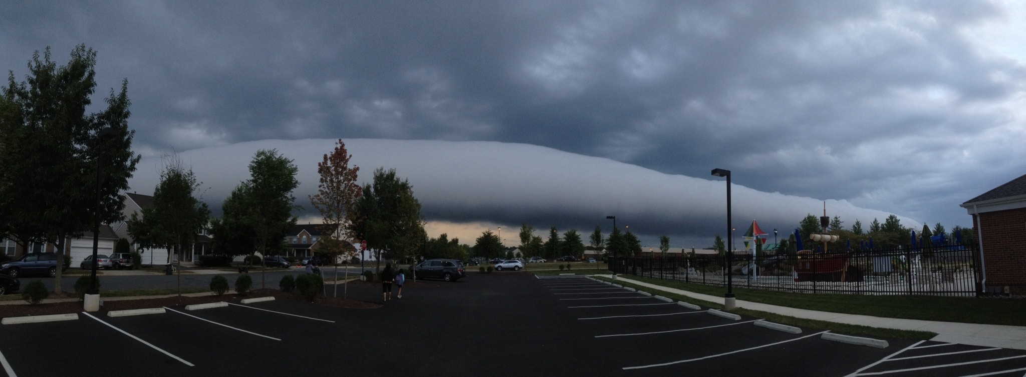 Roll cloud viewed from South Riding (Michael Duncan via Facebook)