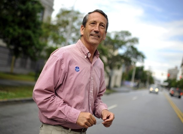 Sanford voting in Charleston, S.C. (AP Photo/Rainier Ehrhardt)