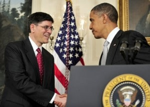 Jack Lew, the nominee for Treasury secretary, faces the Senate today.  (Ron Sachs - VIA BLOOMBERG)