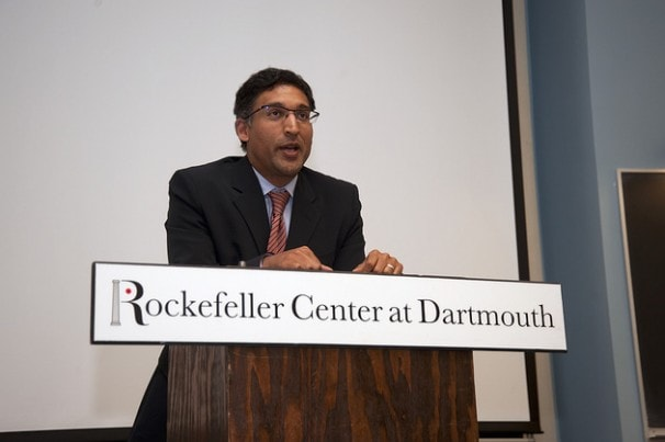 Former Acting Solicitor General Neal Katyal has opposed giving the judiciary oversight over drones. (Richard Yu / The Dartmouth)