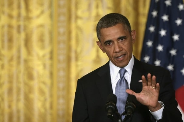 President Obama speaks about the IRS and Benghazi at a press conference. (Washington Post)