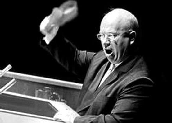 The U.S. fell for the ol' Khrushchev shoe slam every time. (UN)