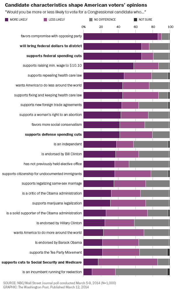 Candidate characteristics shape American voters' opinions