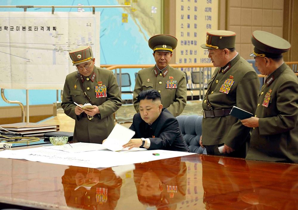 Kim Jong Un's war room