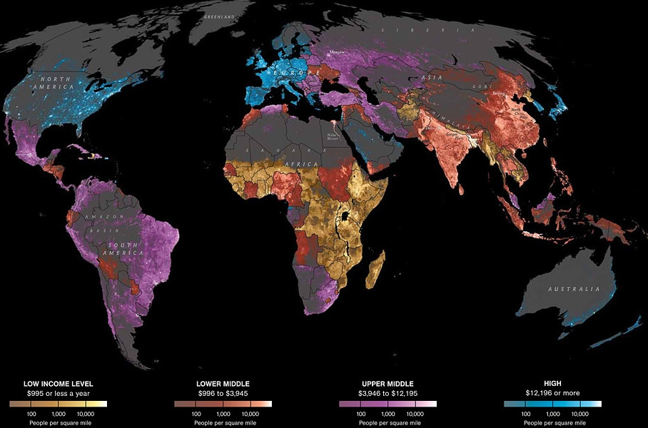 Data source: Oak Ridge National Laboratory, World Bank. (David Whitmore, John Grimwade / National Geographic)
