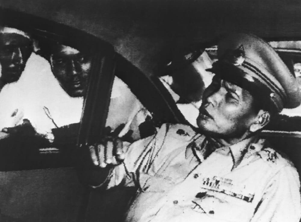 Field Marshal Sarit Thanarat led a coup and seized power in 1957. (AP)