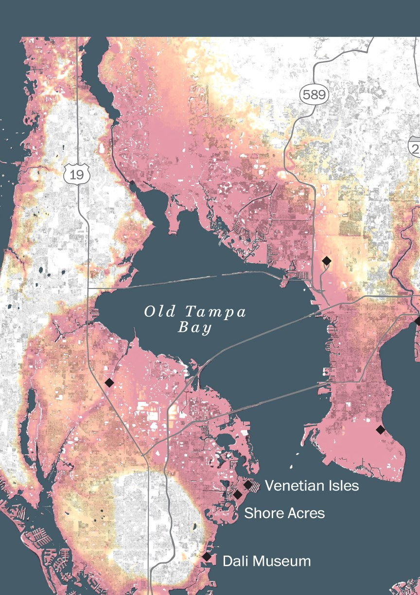 HD Decor Images » Sea level rise could destroy Tampa Bay if a major hurricane hits     Amount of high tide inundation under Category 5 storm surge