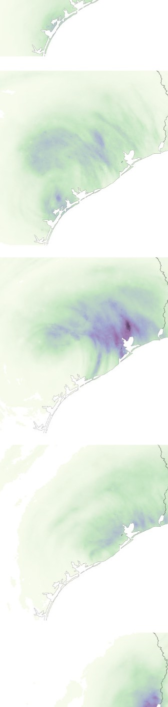 HD Decor Images » Houston flooding map  The effect of Harvey on Texas and Louisiana     Rainfall totals by day