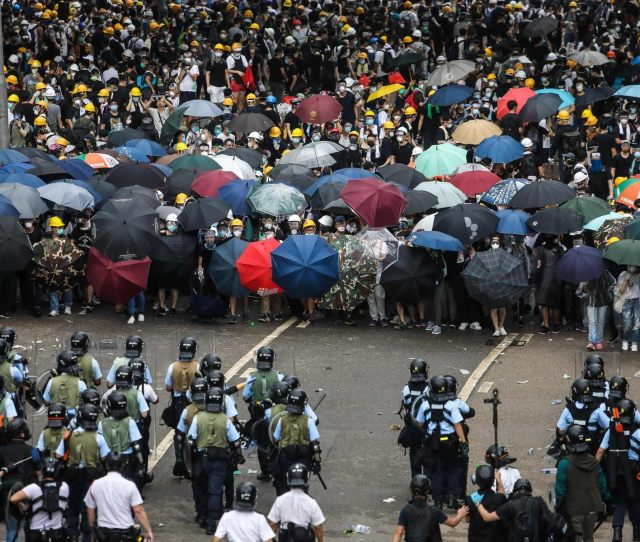 Protesters Face Off With Police On Wednesday