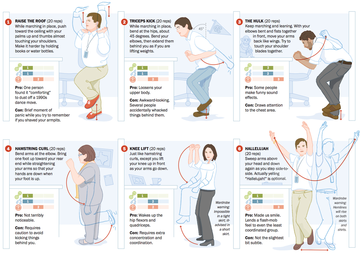 A Workout At Work 12 Office Exercises