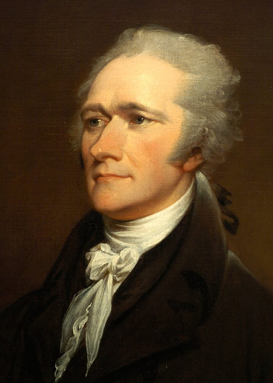 Alexander Hamilton, by John Trumbull (based on 1801 Giuseppe Ceracchi work); now in the National Portrait Gallery of the Smithsonian Institution.