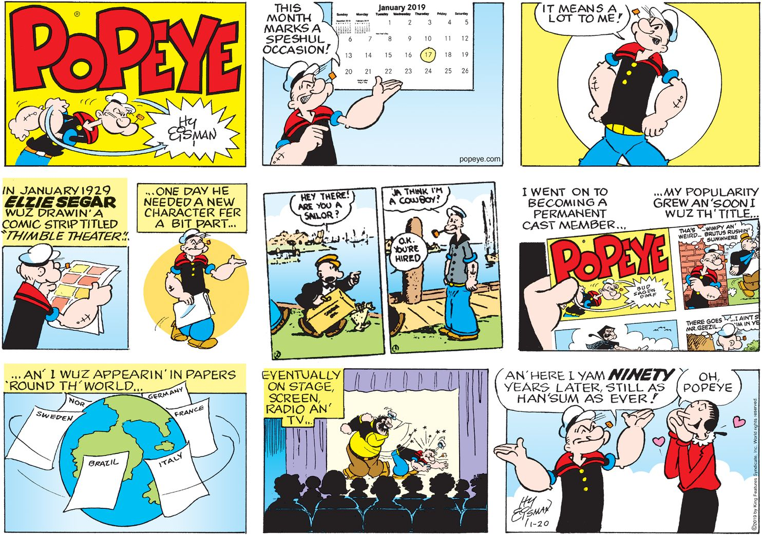 At 90 Popeye Is Still Going Strong
