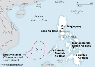 These are the bases the U.S. will use near the South China Sea. China isn't impressed. - The Washington Post