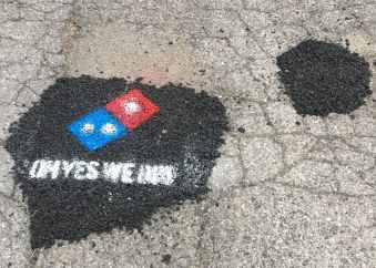 Image result for domino's pothole