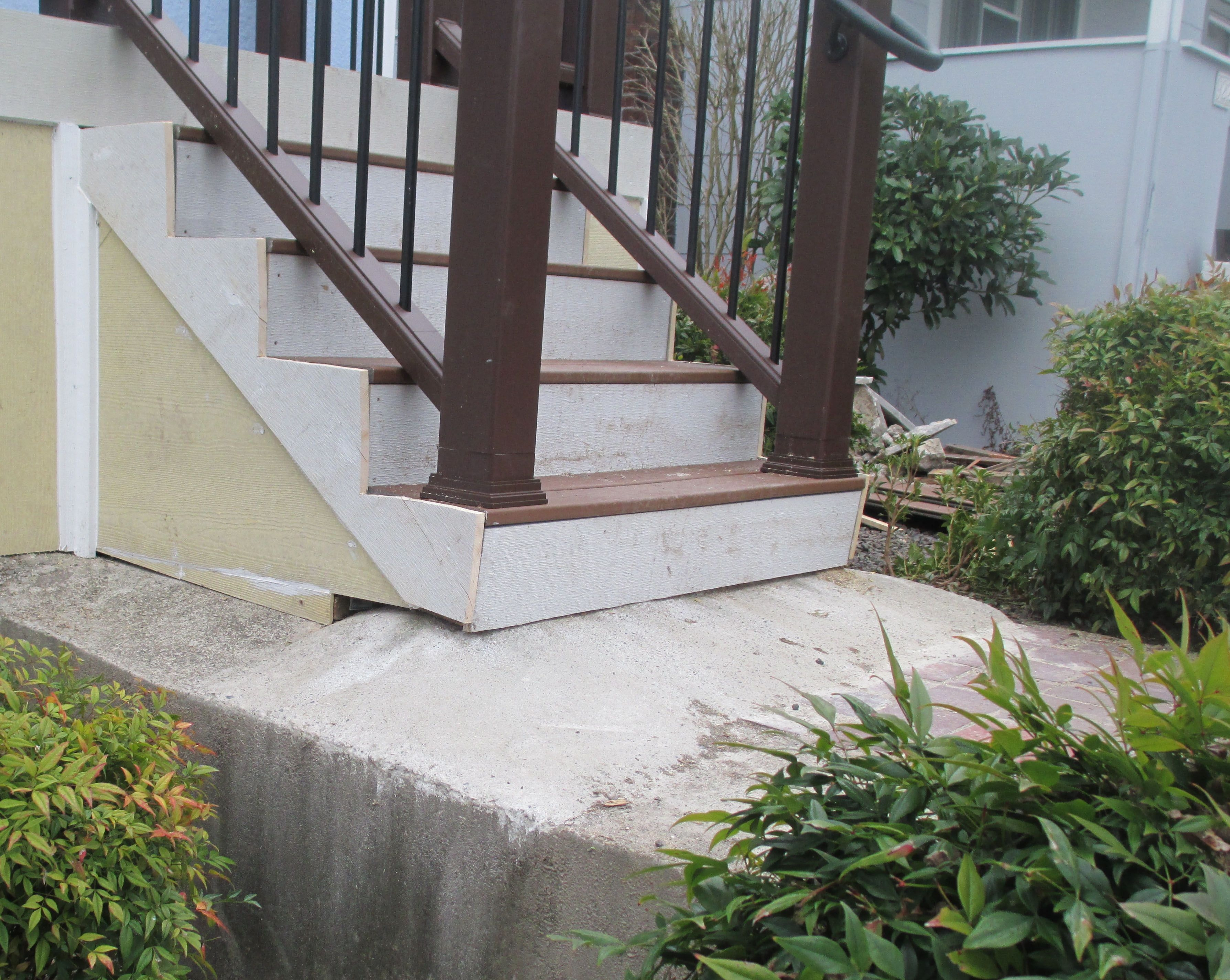 How To Avoid Rookie Mistakes When Installing Porch Steps The   Front Stairs Designs With Landings   Small Space   Flared   Architectural   Exterior   Curved
