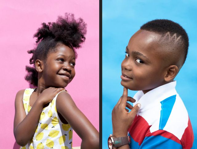 a celebration of the natural hairstyles of black kids - the