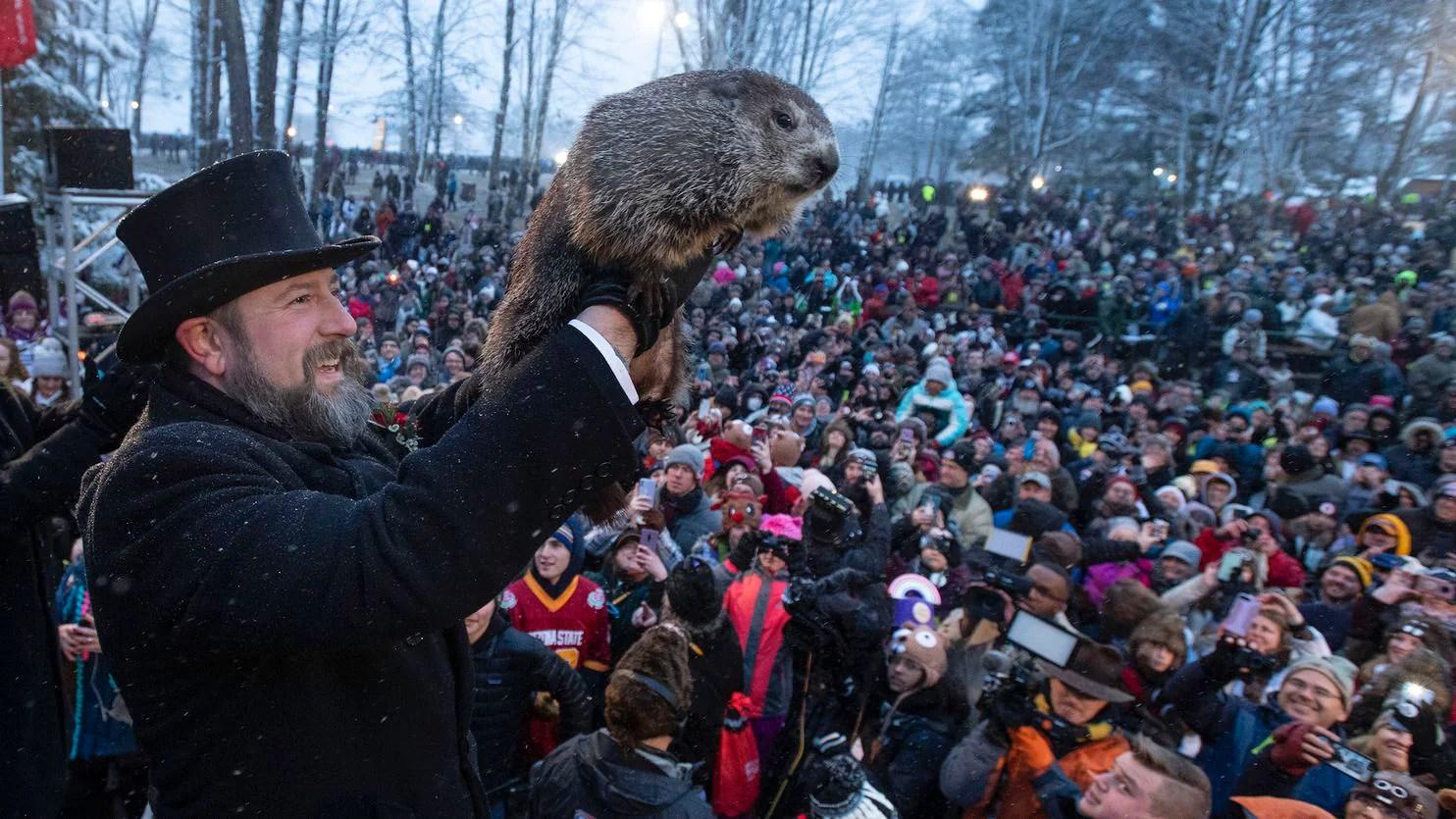 Groundhog Day Punxsutawney Phil Predicts Early