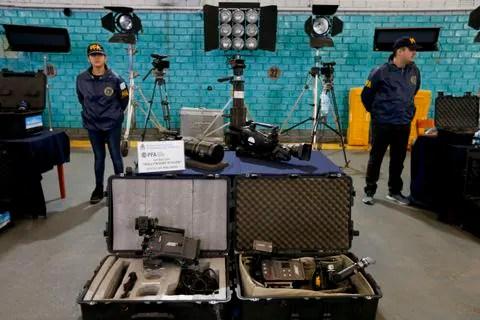 7V4UJGFYJII6RLSPFQKDTSLNPE - Argentina seizes costly film equipment stolen from Hollywood