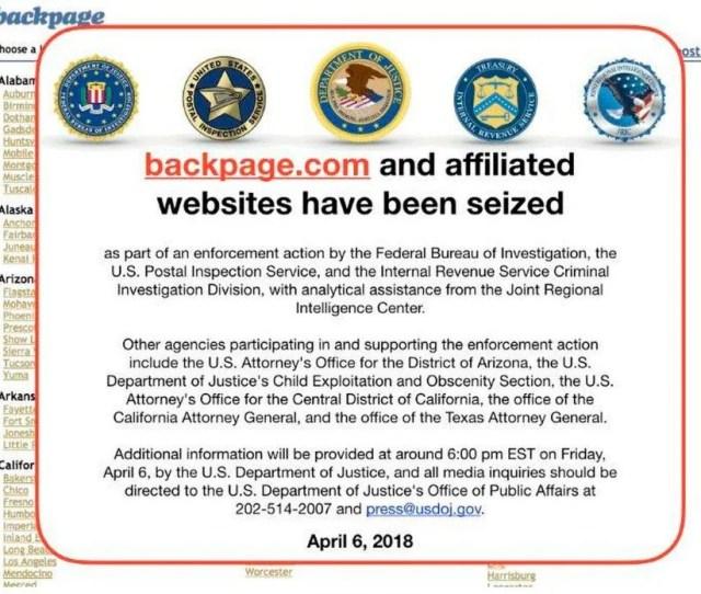 An Fbi Notice On The Backpage Com Website Ap