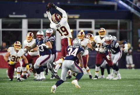 74SN2J7ESM5FLOA7QCG6V6A2HQ - Redskins WR Robert Davis to get additional tests after MRI shows knee ligament and tibia damage