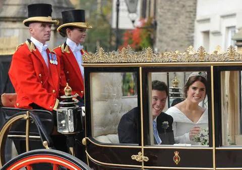 XFRMJPWO3YI6RLIKBYA67OR4YE - UK fans flocked to TV to watch Princess Eugenie's wedding