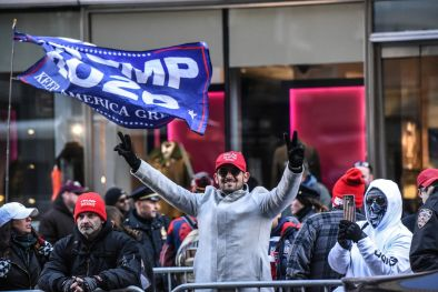 Supporters of President Trump in New York in November.  (Stephanie Keith/Getty Images)