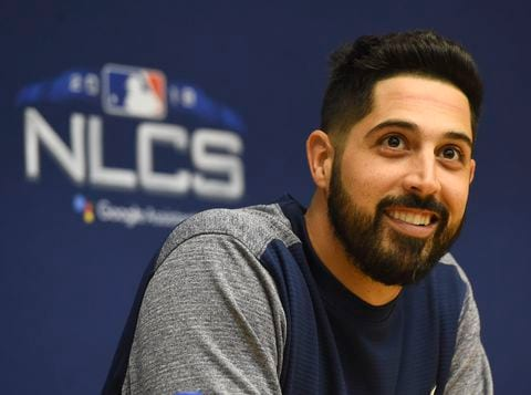 IPDLBIWNT4I6RLIKBYA67OR4YE - Brewers' Gio Gonzalez calls starting Game 1 of NLCS 'a pretty cool story'