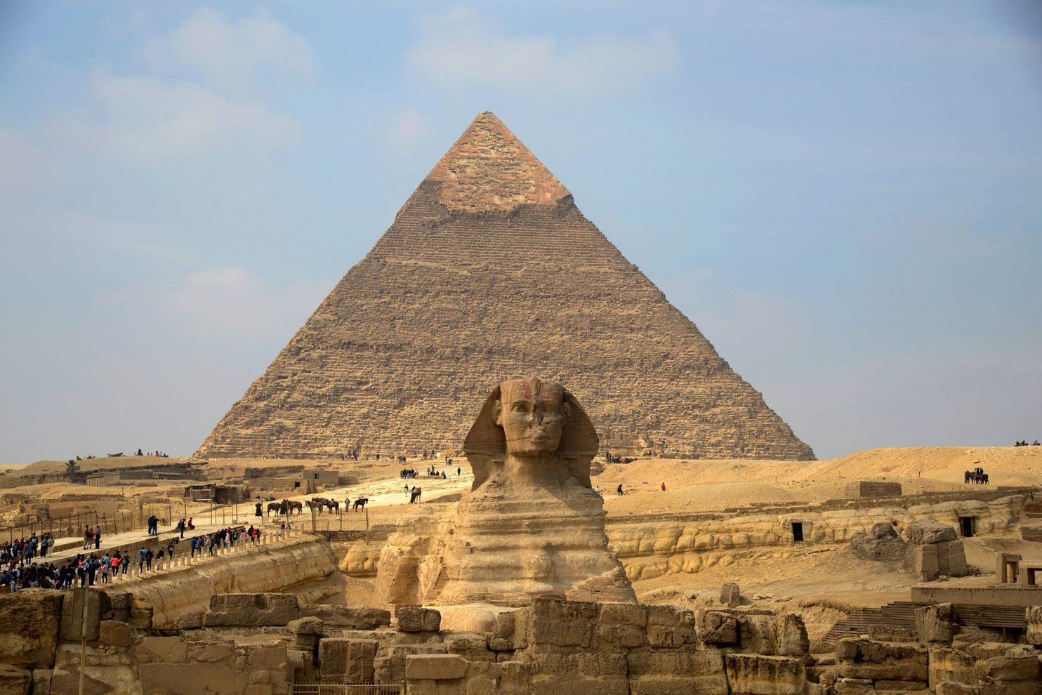 Sphinx And Pyramid Wonders Go Digital