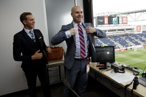 5PC3SQSA3M5TVHBDAYBSZ2IFYI - John Strong was once an American 'soccer nerd by myself.' Now he's calling the World Cup final.