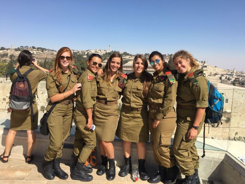 Why a growing number of religious women want to serve in the Israeli     A group of Israeli soldiers pose at a scenic lookout spot in Jerusalem    Handout Photo Handout photo by IDF