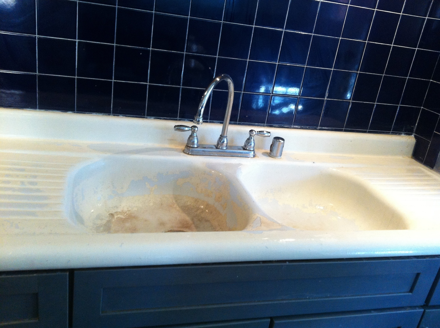 replace enamel on a cast iron sink
