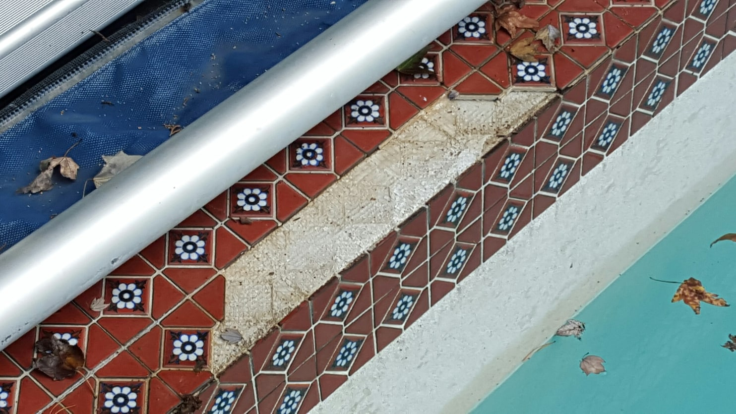 replace pool tiles that have fallen off