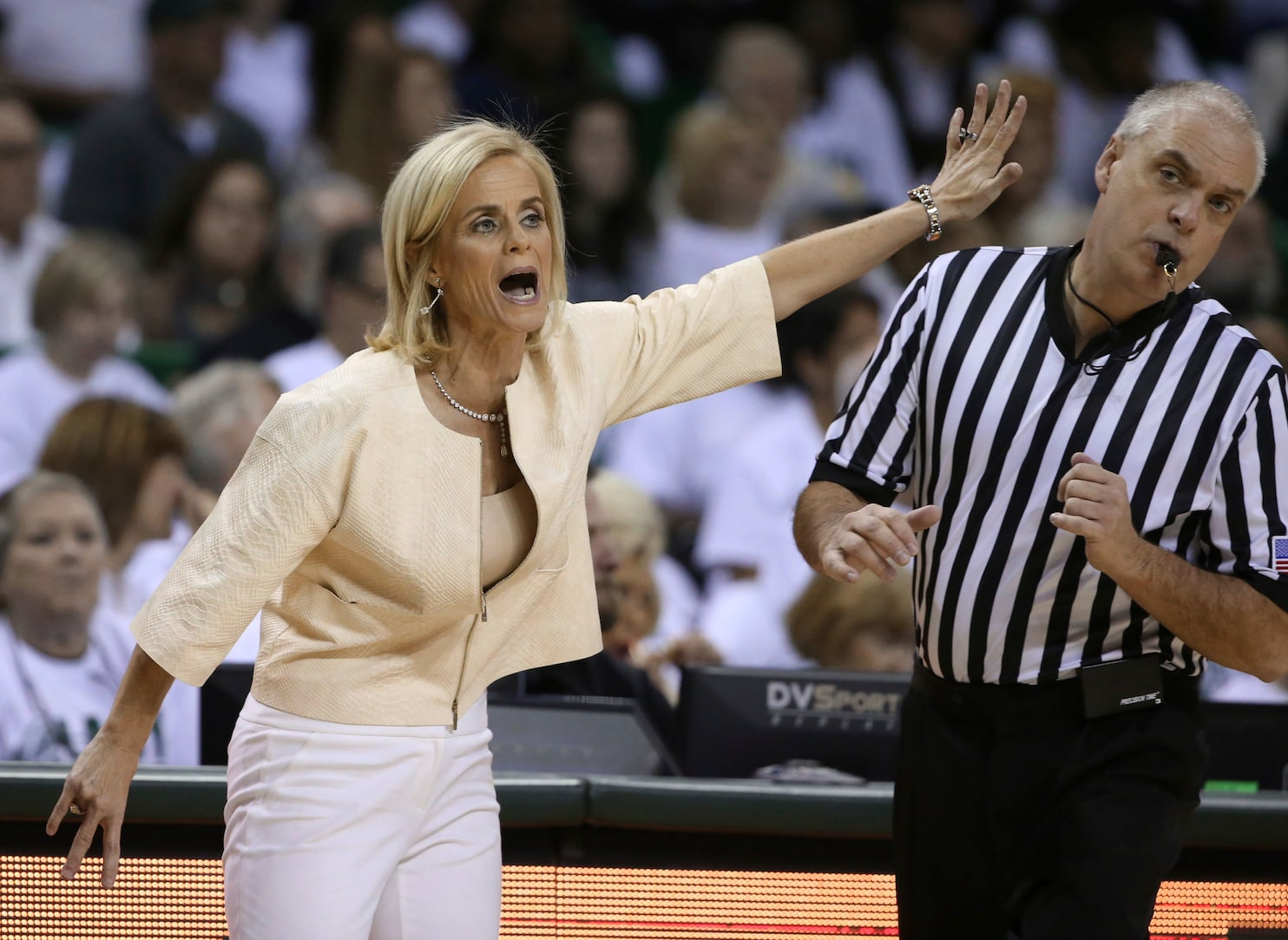 Baylor coach says emotion 'got the best of her' when she ...