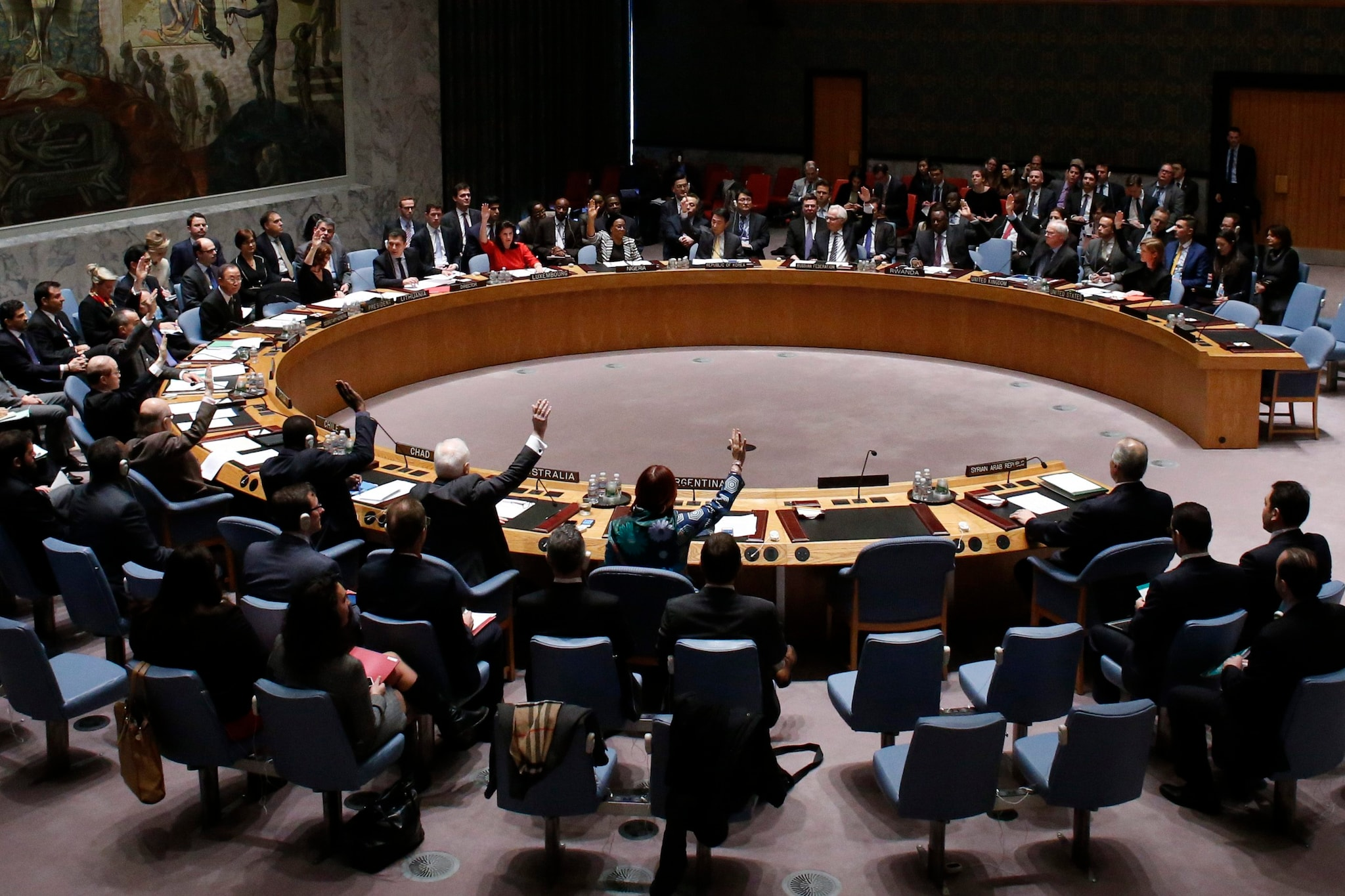 U N Security Council Agrees On Resolution Urging Syria To Halts Allow Aid Access