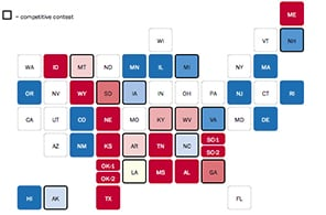 A look at the 36 Senate contests of 2014