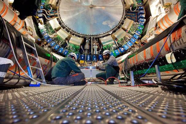 Interior of CERN Large Hadron Collider
