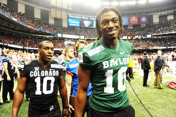 Baylor standout and NFL prospect: Heisman Trophy winner Robert Griffin III is a highly coveted prospect heading into the 2012 NFL draft.