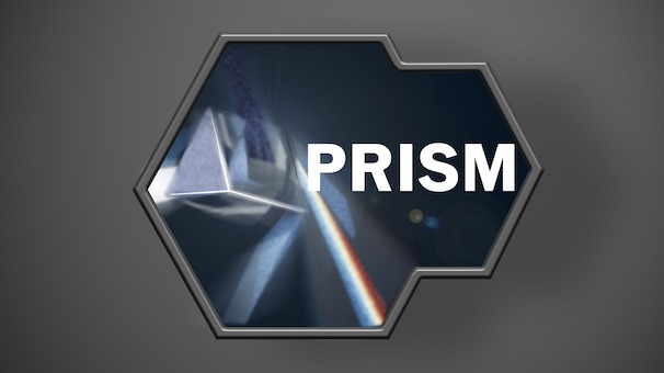 A captioned photo of a prism.
