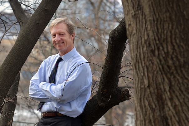 WASHINGTON, DC - JANUARY 26: Tom Steyer poses for a portrait on Saturday, January 26, 2012, in Washington, DC. For the first time in years, President Obama has started talking in blunt terms about global warming. Billionaire Tom Steyer of San Francisco is the man who has Obama's ear when it comes to energy and climate change. Steyer is helping drive policy in Washington and is even under consideration to be the next Energy Secretary, though he might not want the job. (Photo by Jahi Chikwendiu/The Washington Post)
