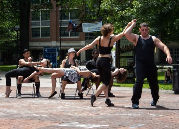 Dancers from the Divercity dance company