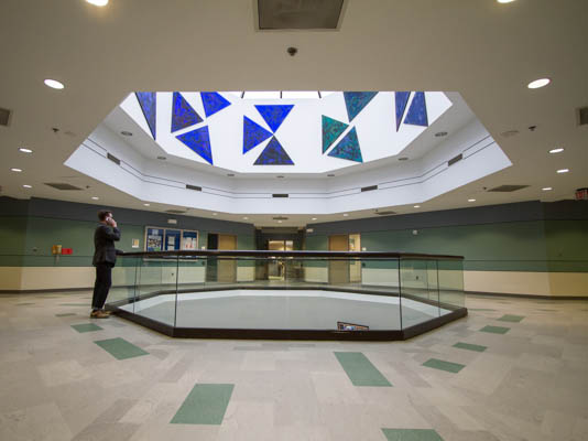 Interior of Business Education building