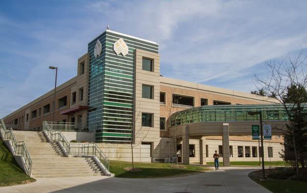 WCC's parking structure exterior - front