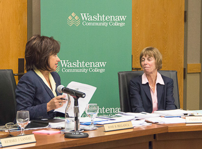 WCC President Rose Bellanca and Pamela Horiszny