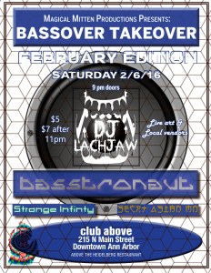Bassover at Club Above brings Bass and festival culture to the Winter Ann Arbor music scene.