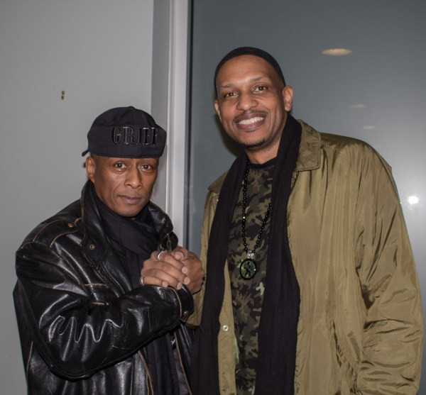 Professor Griff (left) and Khalid El-Hakim (right) are the founders of the Black History 101 mobile museum.