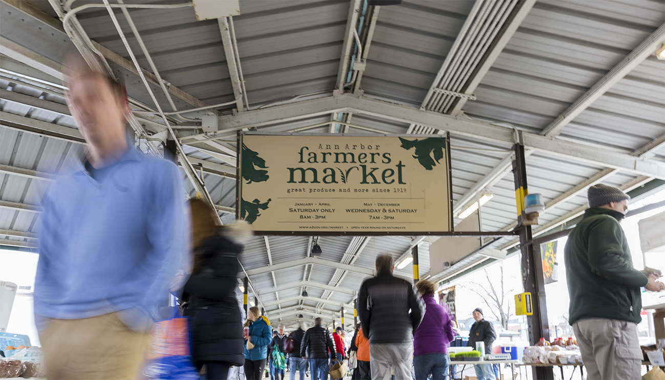 The Ann Arbor Farmers Market Is Located Next To The Kerrytown Shops In  Downtown Ann Arbor