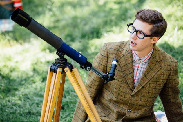 A boy and his telescope