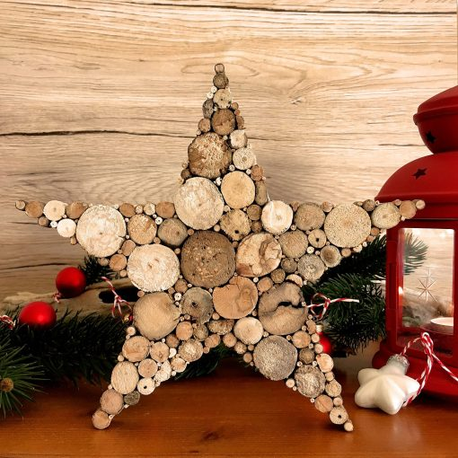 Stern aus Treibholz Weihnachtsdeko