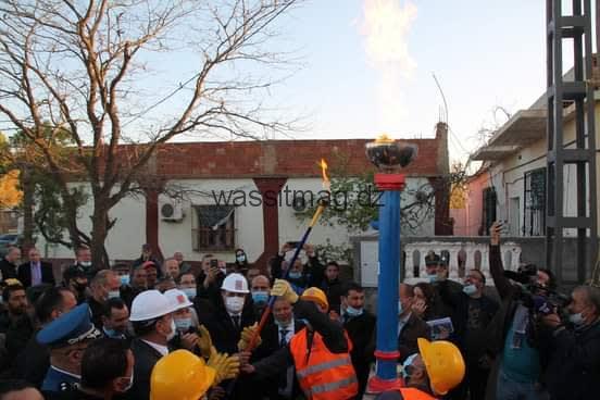 وضع حيز الخدمة شبكة الغاز الطبيعي لفائدة 320 عائلة بمشتة الجابيات ببلدية مزلوق من طرف والي ولاية سطيف و الرئيس المدير العام لشركة سونلغاز .